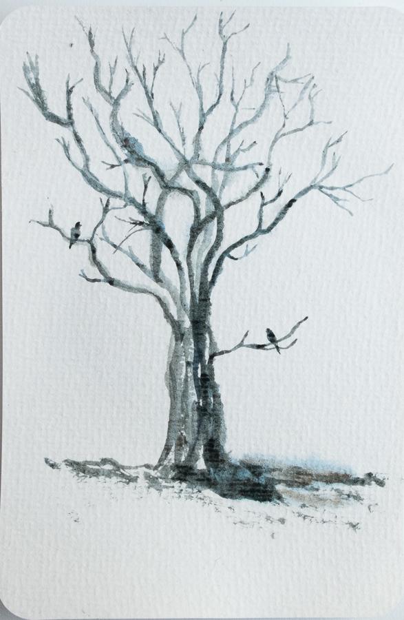 Schets van een boom